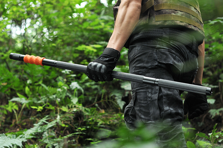 Multitool chất lượng cao survival đi bộ walking stick với magnesium cháy khởi xướng