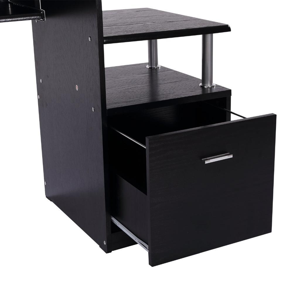 Wood Office Furniture Product ~ Antique wood office desk furniture with shelf and drawers