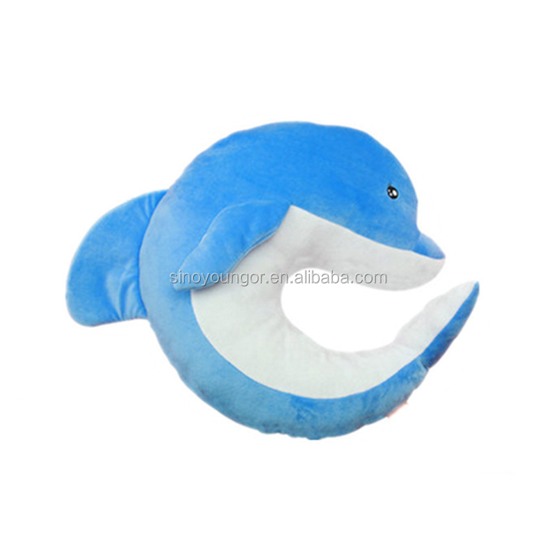 Cute animal design plush neck support pillow