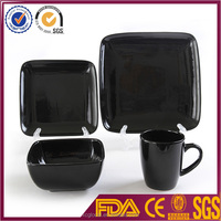 Cheap black Ceramic Dinner set big serving dinnerware wedding dinnerware factory sale
