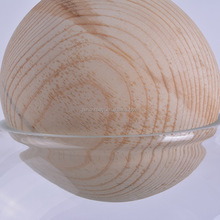 7CM Round Shape and Polished New Design For Home Reed Diffuser Glass Bottles 's Diffuser Beech Wooden Ball