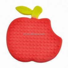 2017 Hot Sale BPA free Silicone Safety fruit shaped silicone baby teethers toy