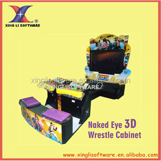 Naked Eye 3D /Super Street IV 3d machine/Arcade fighting machine