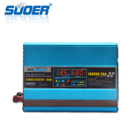 Suoer Modified Sine Wave Solar Panel 12V 220V 1000W 1KW Solar Power Inverter With Built-in Charge Controller