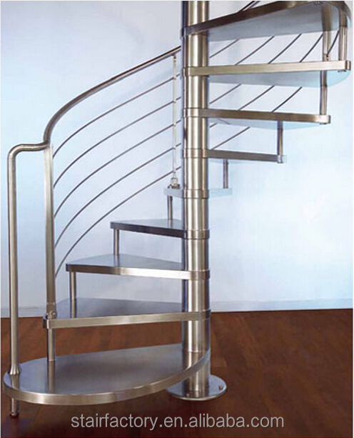 Prefabricated Spiral Staircase 304 Stainless Steel Indoor Stairs Ts 241 Modern