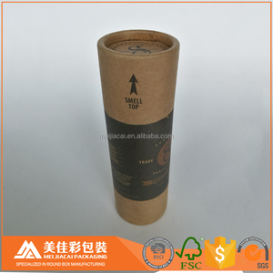 Biodegradable 60ml 2 FL oz paper cylinder sliding box jar with caps full color printed with your logo design