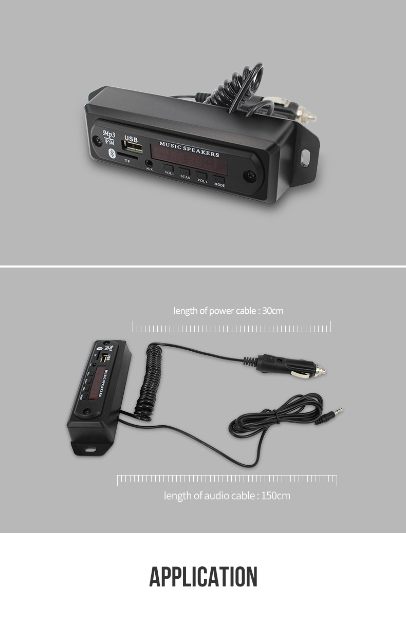 Hot sale bluetooth mp3 decoder in cars with line