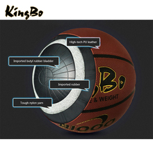 Official size and weight match quality PU basketball microfiber cover butyl basketball ball