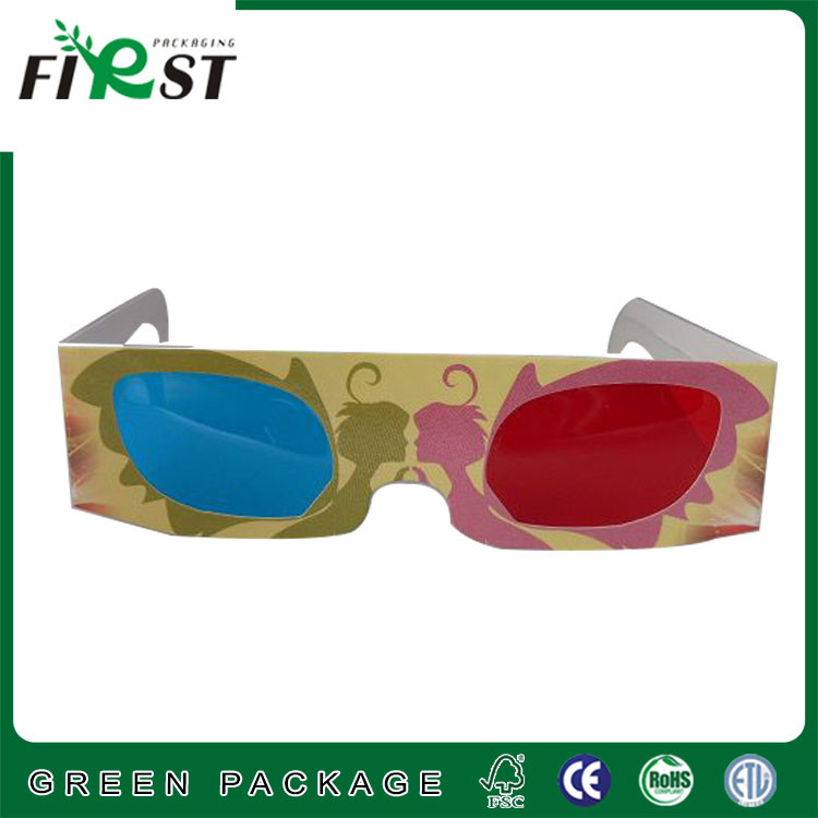 custom logo customize 3d paper cardboard linear polarized 3d glasses /Logo Printed Custom Red Cyan paper 3D Glasses