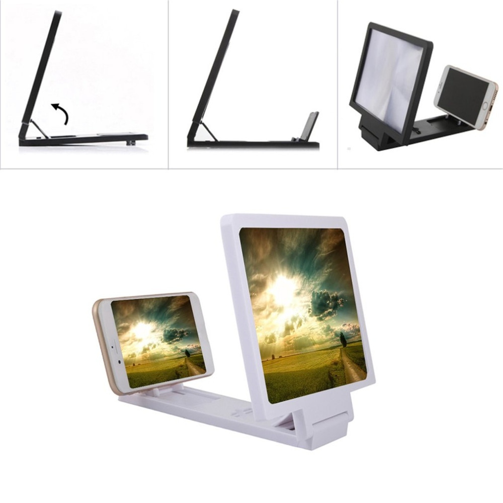 Generous Cell Phone Screen Magnifier 3D HD Movie Video Amplifier With Foldable Holder Stand