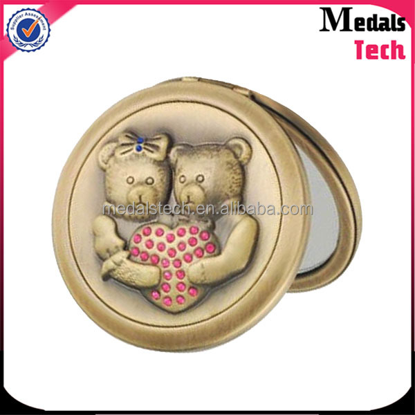 high quality cheap antique brass cosmetic mirror makeup mirror