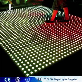 Interactive Led Sensor Floor Light Portable Rgb Dance