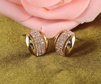 1757ad83e6a25 Wholesalers Jewelry Girl/women Unique Design 18k Gold Plated Austrian  Crystal Stud Earrings For Women Er0051-c - Buy Stud Earrings,Austrian  Crystal ...