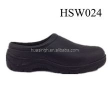 oil resistant & anti-slip restaurant / hotel black safety work shoes with cheap price