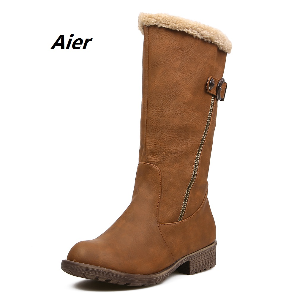 Winter boots Autumn boots genuine leather women shoes