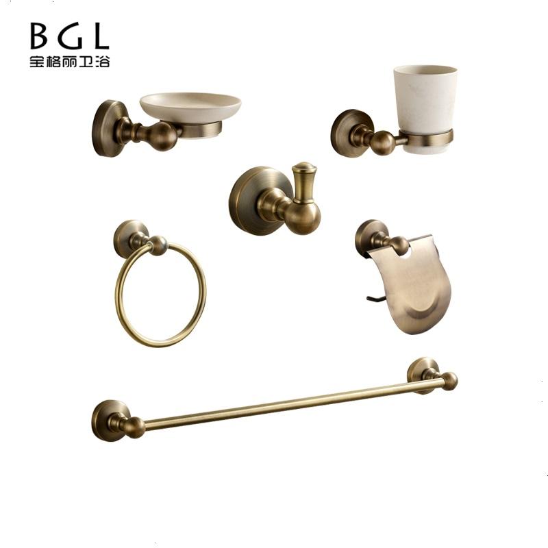BGL Hotel Accesorios de ba/ño Soporte Dorado Soporte para Cepillo de Inodoro