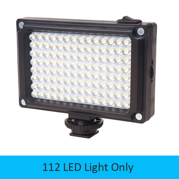 DIGITALFOTO Mini 96/112 LED Light Photo Light on Camera Hotshoe Dimmable LED Lamp for Camcorder DV DSLR Youtube