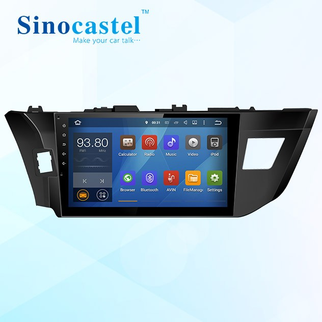 "Special Quad core 10.1"" 1 DIN Android Car DVD Player for Toyota Levin(Left hand driving) with GPS, iPod"