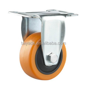 3 Inch Single Ball Bearing PU/PVC Material Colorful Caster Wheel For Shopping Cart