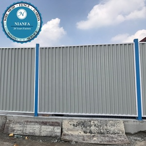 2019 New design Corrugated Steel Panel Fence/Metal Roofing Panel Fence(Guangzhou Factory)