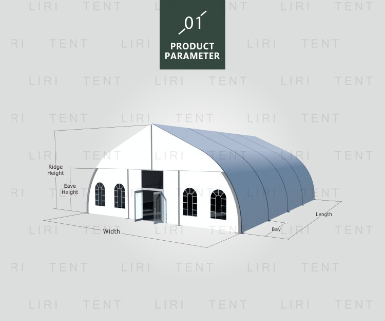 25m Curved Marquee for Sport Event, TFS Marquee for Football Field