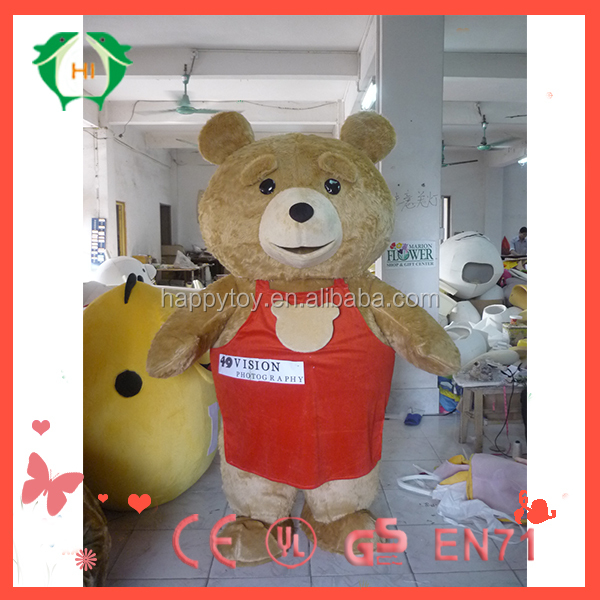 HI CE cheap animal big bear mascot custume,used mascot costumes for sale