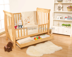 Safety standard cot bed wood furniture baby crib bed/baby cot sleigh