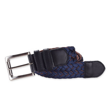 BSCI factory fashion men elastic braided belt