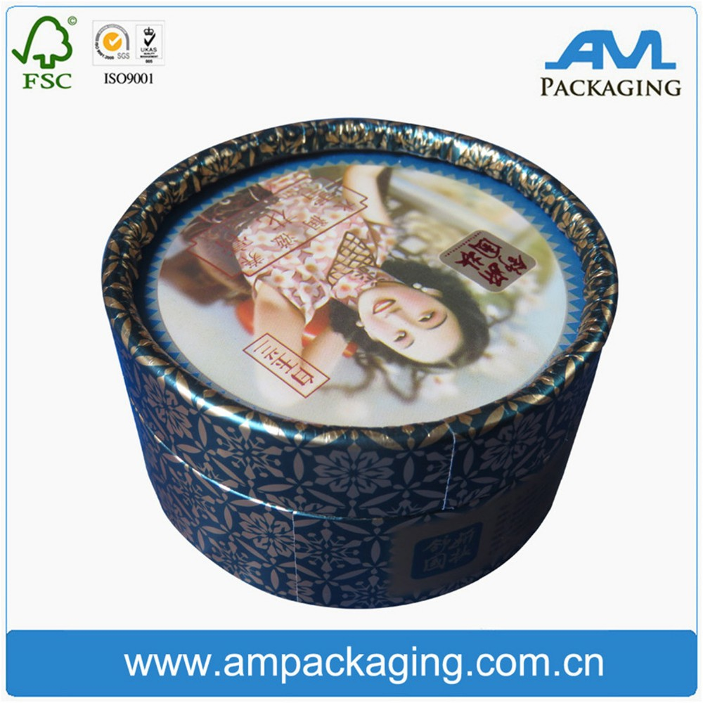 Paper tube cardboard cylinder packaging box for skincare products