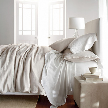 100% Pure Linen Fabric Vintage Washed Linen Bedding, Stone Washed Linen Bed  Sheets