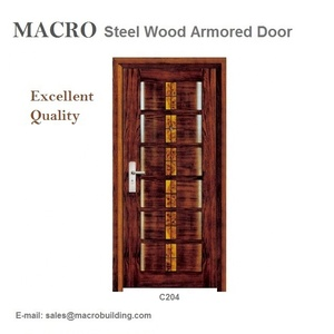 The Latest Design Steel Wood Armored Door