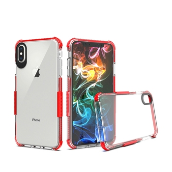 Custodia iPhone XR 7 8 chiaro cristalli liquidi gel di silicone