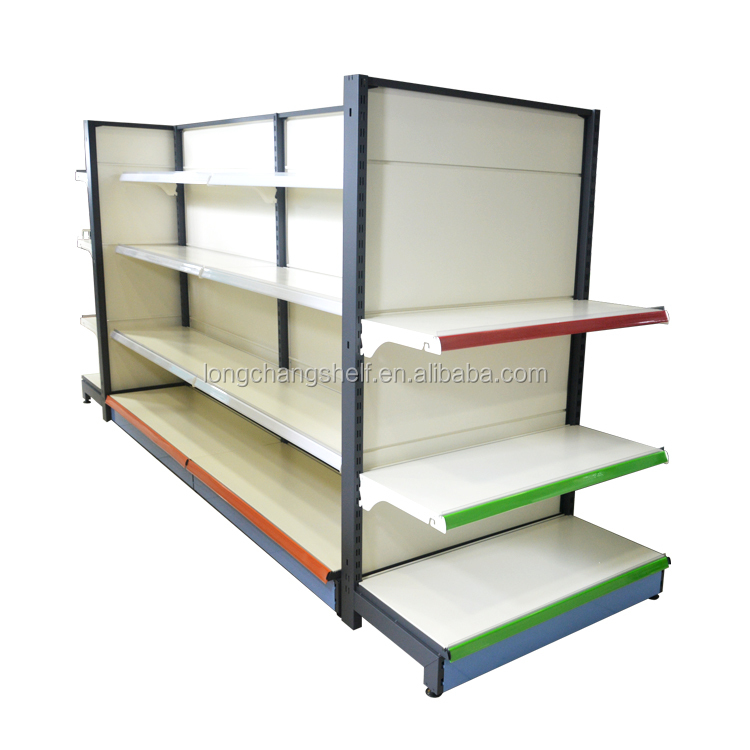 Adjustable Designs Colorful Supermarket Shelves Shopping For High Quality Products Fittings