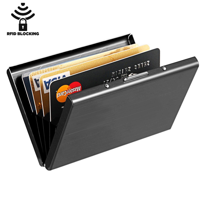 Metafun RFID Aluminium Wallet Credit Card Holder 5 Slots