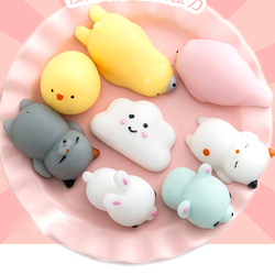 Kawaii Cell Phone Strap Cute Mini Soft Silicone Squishy Toy for Hand Squeeze Pinch Toy Soft squeeze Press Slow Key Bag Strap