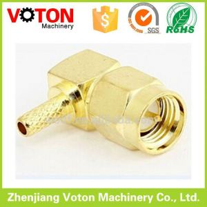SMA round contact rf connector