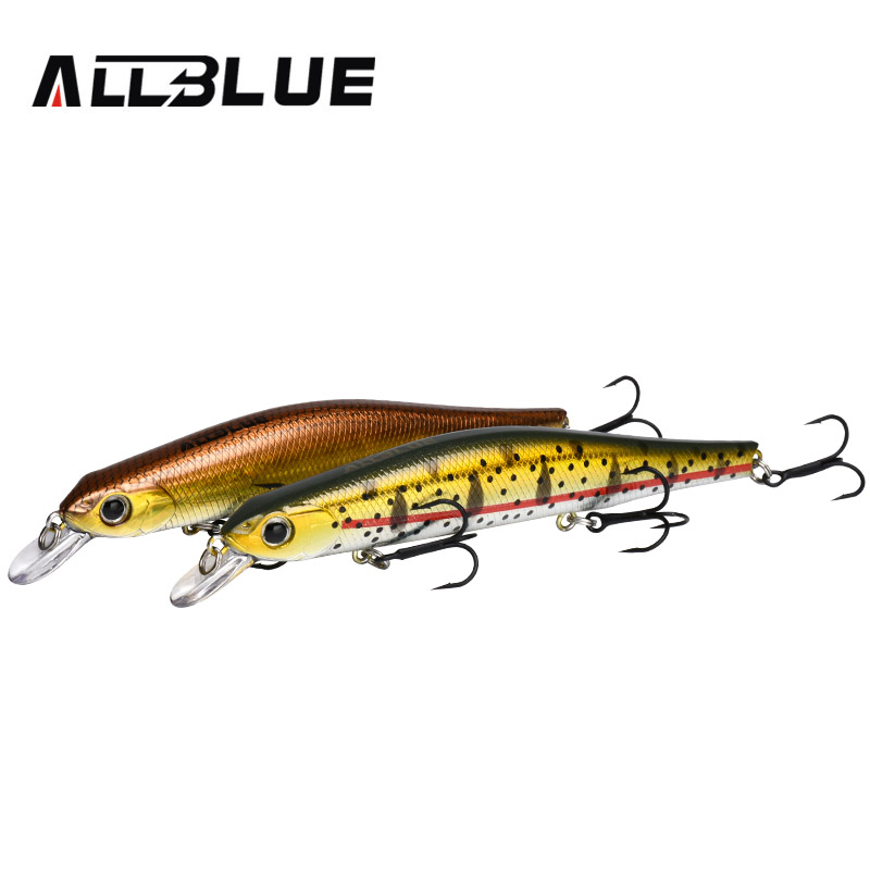 ALLBLUE Minnow Fishing Lures Plastic Hard Bait Bass Pike Fishing Wholesale Minnow Lures