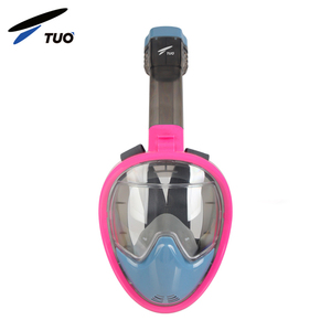 China Hot Sale Dry Silicone Nose Breathing Folding Full Face Swimming Snorkel Mask