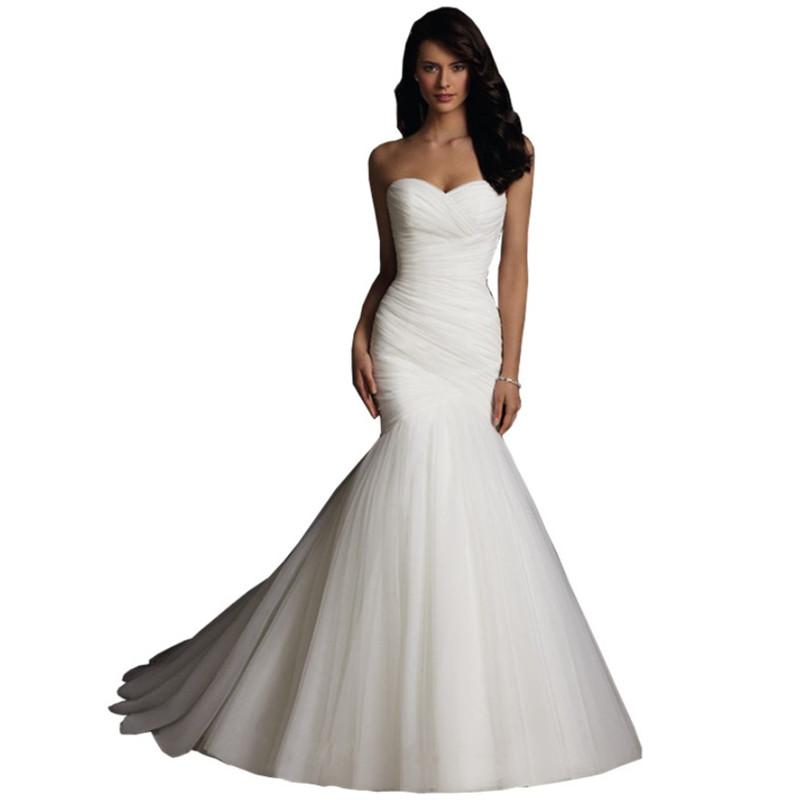 2d27bf097 2019 Europeus Vestidos De Novia corset princesa plissado sereia peixe cauda  do vestido de casamento vestido