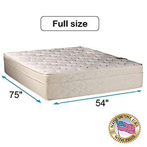 """Dream Solutions USA Beverly Hills Firm Foam Encased Eurotop (PillowTop) Mattress Only (Full - 54""""x75""""x13"""") - Sleep System with Enhance Support, Fully Assembled, Orthopedic"""