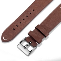 Sport Loop Watchband Wristband Real Watch Leather Strap
