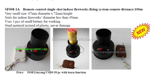 Remote control single shot indoor fireworks firing system-remote distance 100m