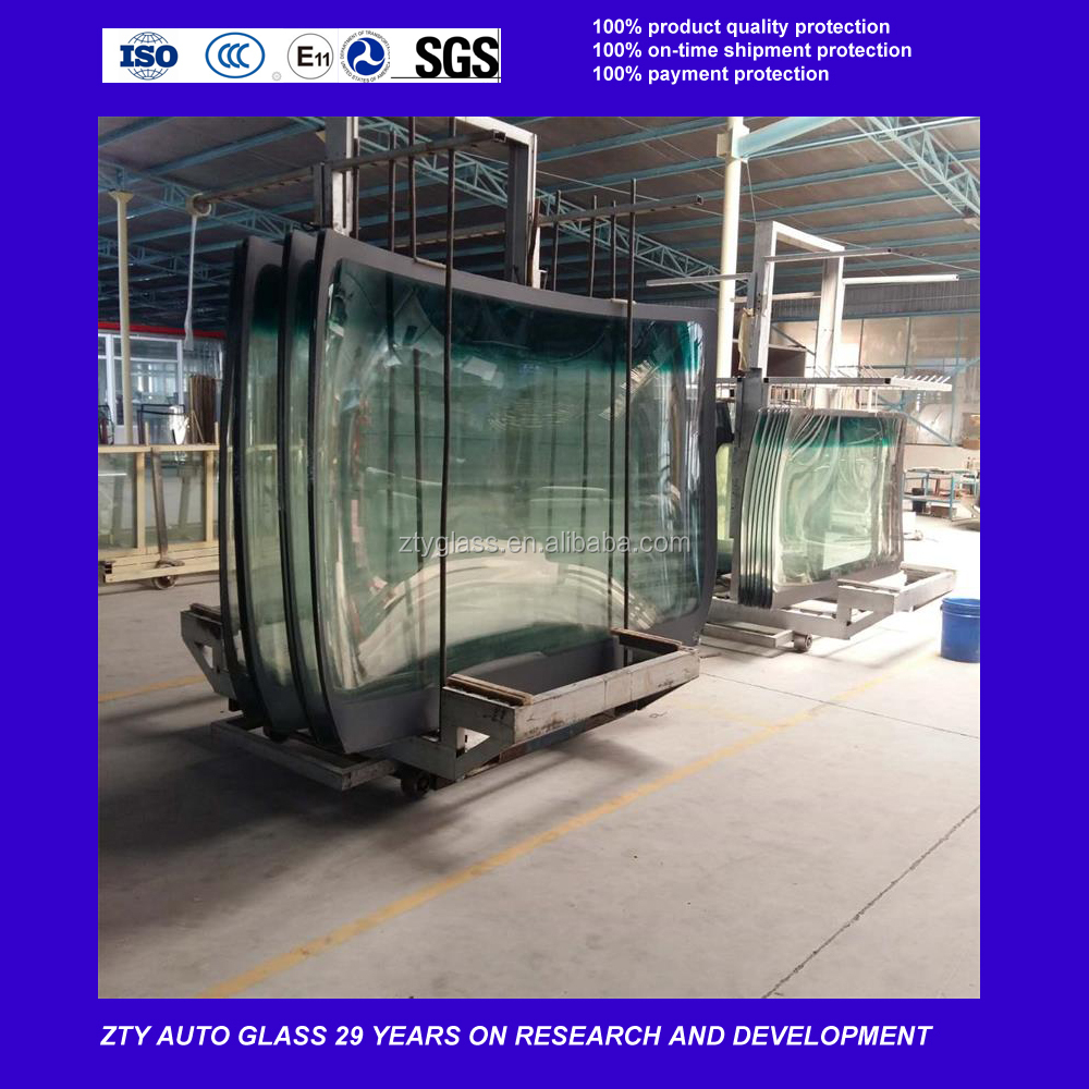 bus front windshield glass for hengtong,youngman,higer,yutong