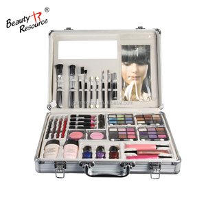 Classic fashion cosmetics makeup kit full set + professional portable aluminum cosmetic case