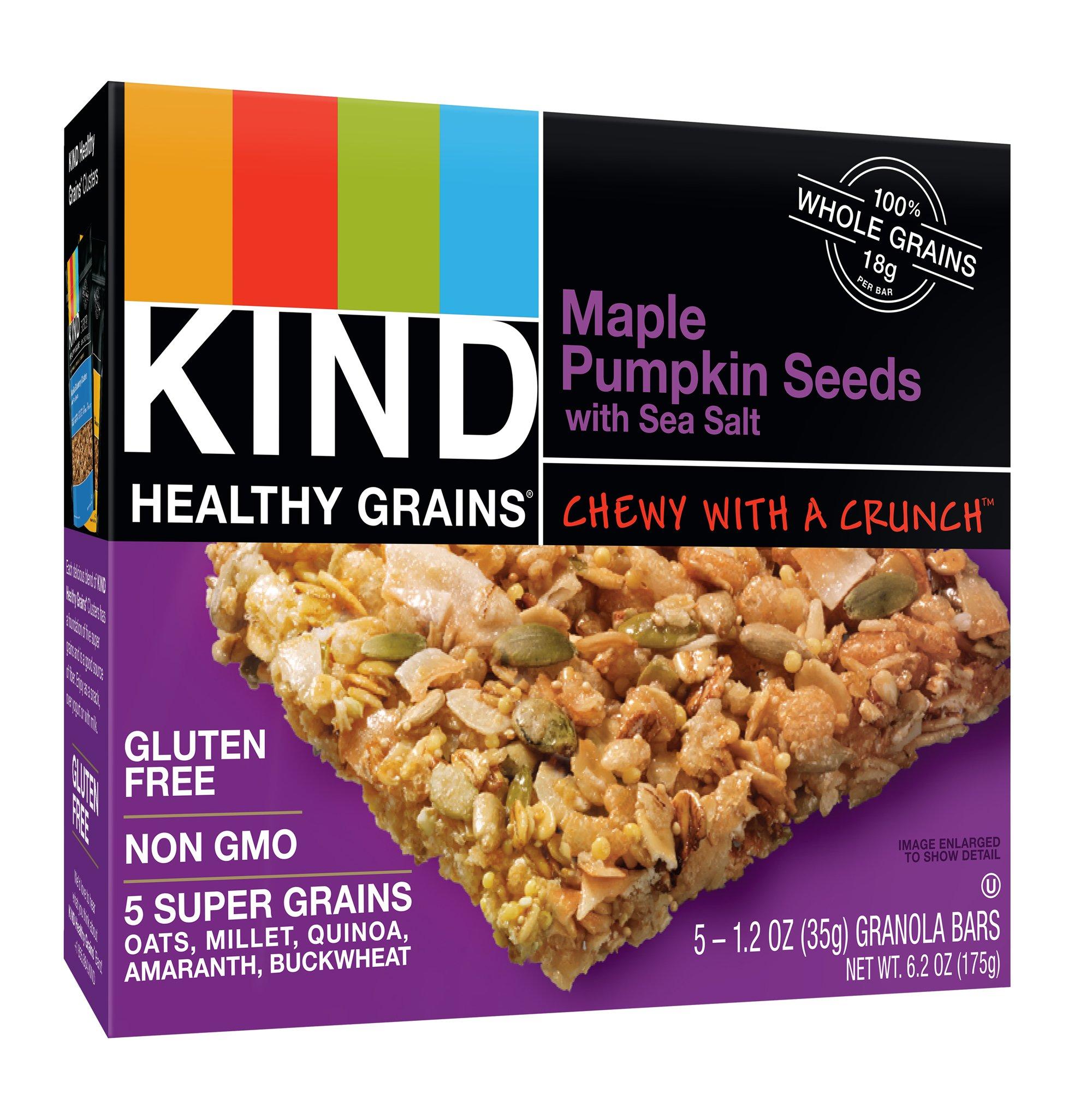 KIND Healthy Grains Bars, Maple Pumpkin Seeds with Sea Salt, Non GMO, Gluten Free, 1.2oz, 30 Count