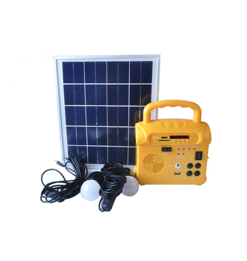 Factory directly selling mini solar system home lighting kit with radio solar energy system