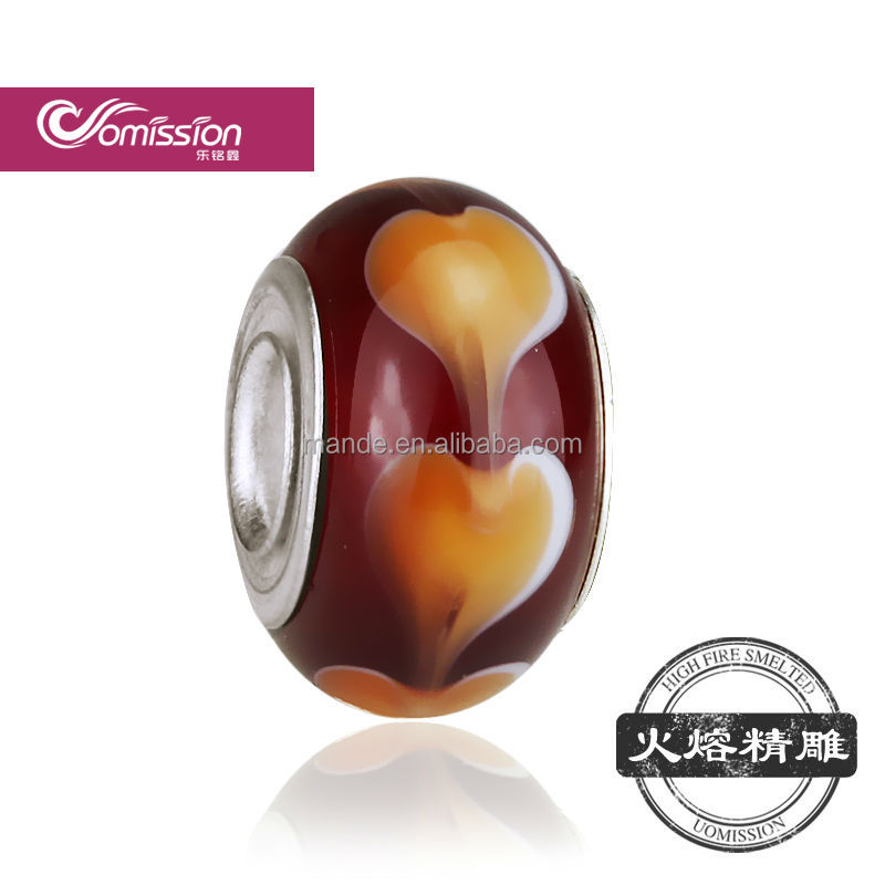 Crystal, Lampwork & Glass Loose Beads Material Golden color for murano gemstone beads for wholesale