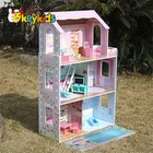 New cute wooden doll house toy,Beautiful princess wooden doll house W06A044