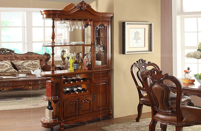 American Classical Style Display Cabinet, Living Room Cabinet, GradevinV 203 Part 81