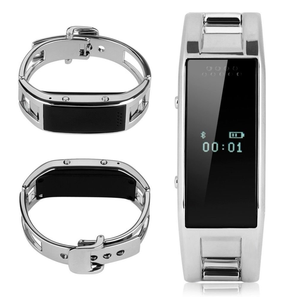 Bluetooth Smart Bracelet Watch D8 Handsfree Anti-lost sleep For IOS Android(Silver)